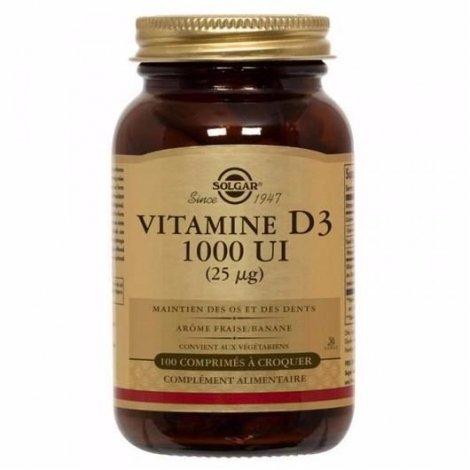 Solgar Vitamine D3 1000 UI 100 Comprimés pas cher, discount