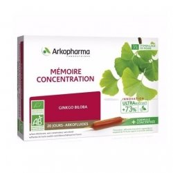 Arkopharma Arkofluides Mémoire Concentration Ginkgo Biloba 20x10ml