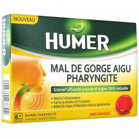 Urgo Humer Mal De Gorge Aigu Pharyngite x20 Pastilles pas cher, discount