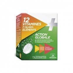 Nutrisanté 12 Vitamines + 7 Oligo- éléments Action Globale x 24 Comprimés Effervescents