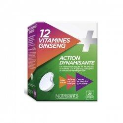 Nutrisanté 12 Vitamines + Ginseng Action Dynamisante x 24 Comprimés à croquer
