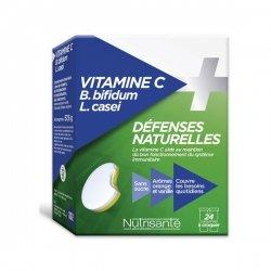 Nutrisante Vitamine C + Défenses Naturelles x24 Comprimés pas cher, discount