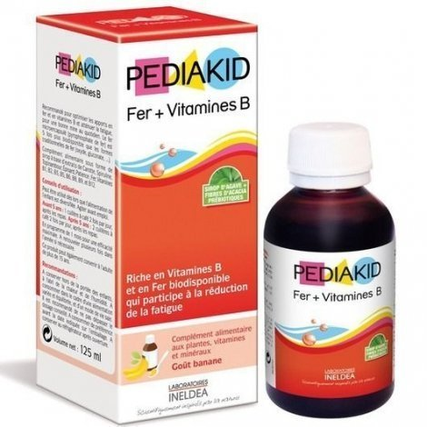 Pediakid Sirop Fer + Vitamine B Enfants 125ml pas cher, discount