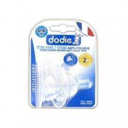 Dodie Initiation+ Tétine Ronde Débit 2 0-6 Mois x2 pas cher, discount