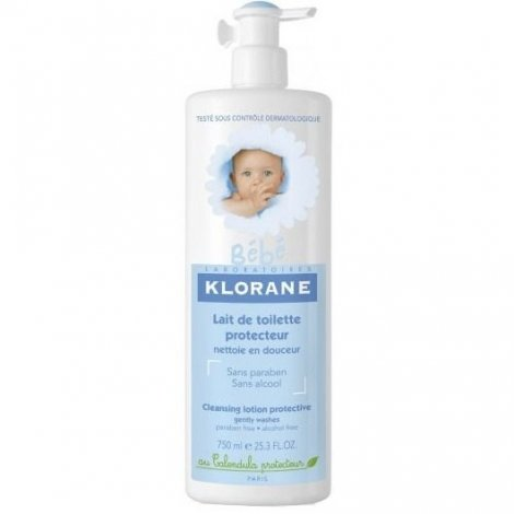 Klorane Bébé Lait de Toilette Protecteur 750ml pas cher, discount