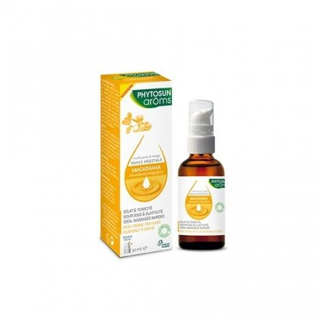 Phytosun Aroms Huile Végétale Bio Macadamia 50ml pas cher, discount