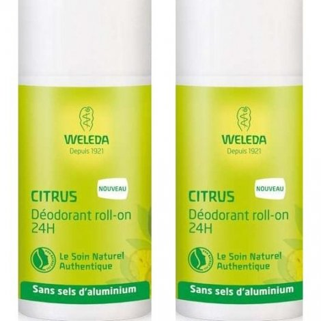 Weleda Citrus Déodorant Roll-On 24h 2x50ml pas cher, discount