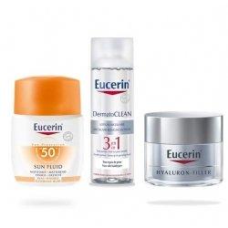 Eucerin Trousse Solaire Sensitive Protect Sun Fluid x3 Produits pas cher, discount
