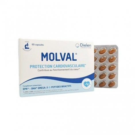 Dielen Molval Protection Cardiovasculaire x60 Capsules pas cher, discount