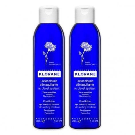 Klorane Lotion Demaquillante Apaisante Au Bleuet Yeux Sensibles Lot 2 X 200 Ml pas cher, discount
