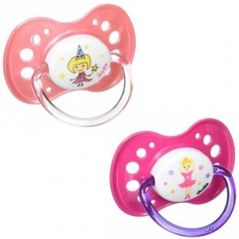 Dodie Sucette Anatomique Silicone Duo Fille +18 Mois pas cher, discount