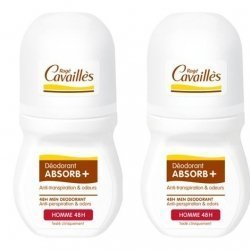 Roge Cavailles Homme Déo Absorb + 48h Roll On 2x50ml