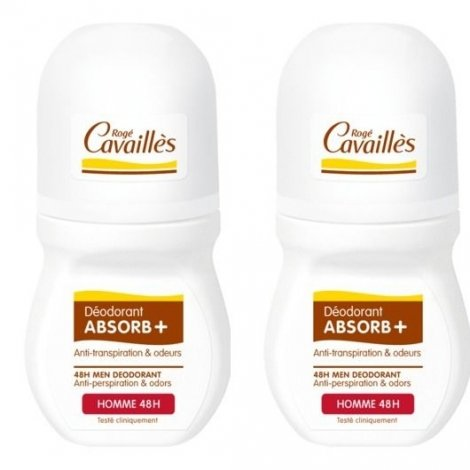 Roge Cavailles Homme Déo Absorb + 48h Roll On 2x50ml pas cher, discount