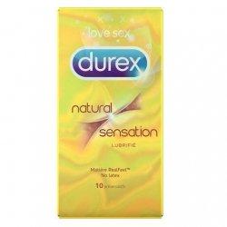 Durex Natural Sensation Préservatifs Lubrifiés x10 pas cher, discount
