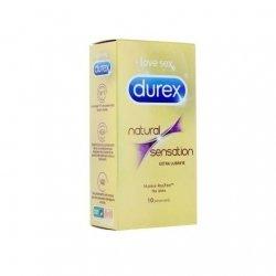 Durex Natural Sensation x10 Préservatifs Extra Lubrifiés