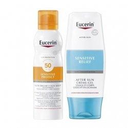 Eucerin Sun Brume SPF50 200ml + After Sun Crème-Gel 150ml pas cher, discount