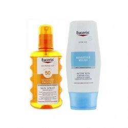 Eucerin Sun Spray Transparent SPF50 200ml + After Sun Crème-Gel 150ml pas cher, discount