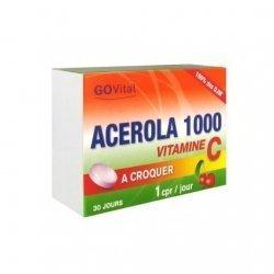 GoVital Acérola 1000 Vitamine C Défenses Naturelles x30 Comprimés