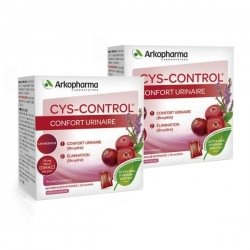 Cys-Control Confort Urinaire, Elimination Lot de 2x20 Sachets de 4 g Arôme Framboise pas cher, discount