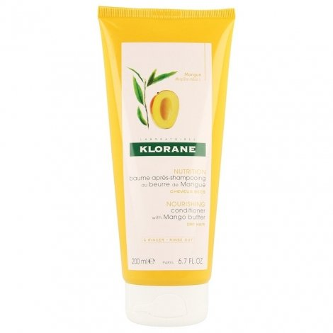 Klorane Baume Apres-Shampooing Nutritif au Beurre de Mangue 200ml pas cher, discount