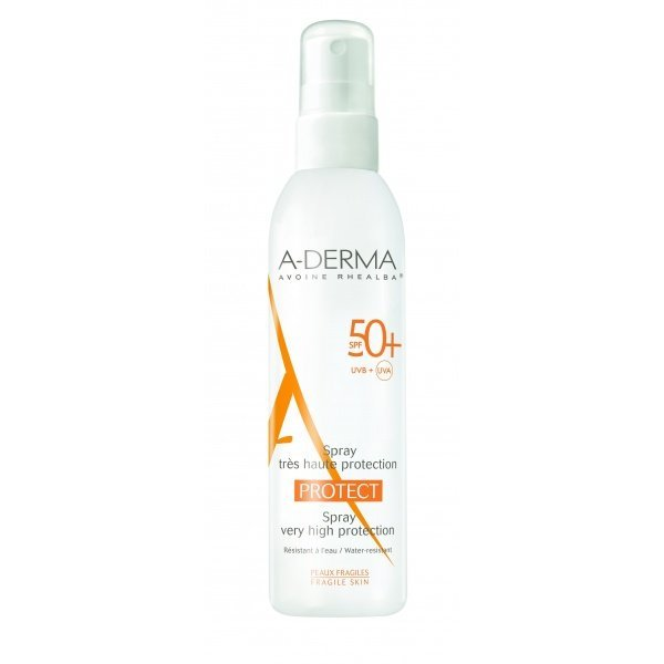 Aderma protect spray haute protection spf50 200ml tous for Derma stim pas cher