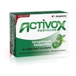 Arkopharma Activox Menthe eucalyptus sans sucre 24 pastilles pas cher, discount