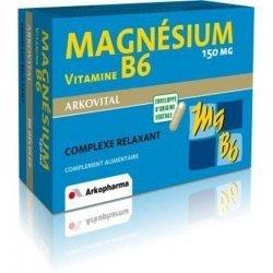 Arkopharma Magnesium B6 gélules 2x30 pas cher, discount