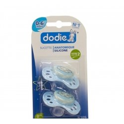 Dodie sucette nuit garcon 1age sil. duo    2