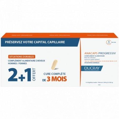 Ducray Anacaps Progressiv 3x30 capsules pas cher, discount