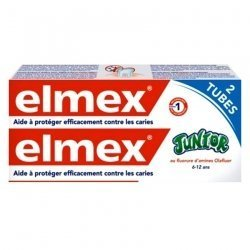 Elmex Junior Dentifrice Duopack 2x75ml 2e -50% pas cher, discount