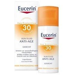 Eucerin sun Fluid Visage Anti-Age SPF 30 50ml pas cher, discount