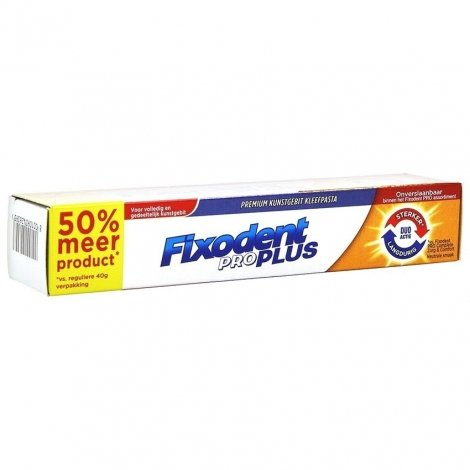 Fixodent Pro Plus Duo Action Pate Adhesive 60g pas cher, discount