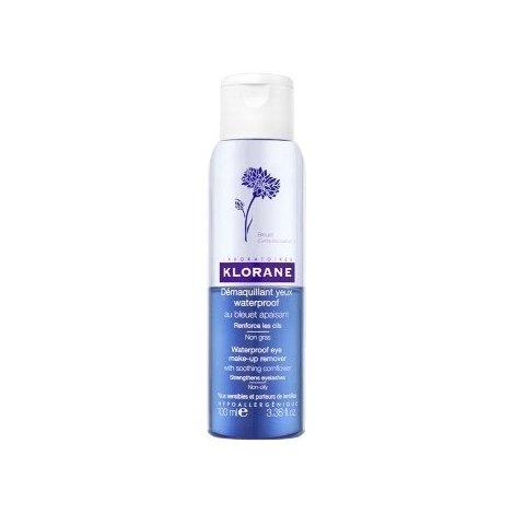 Klorane bleuet eau démaquillante waterproof 100ml pas cher, discount
