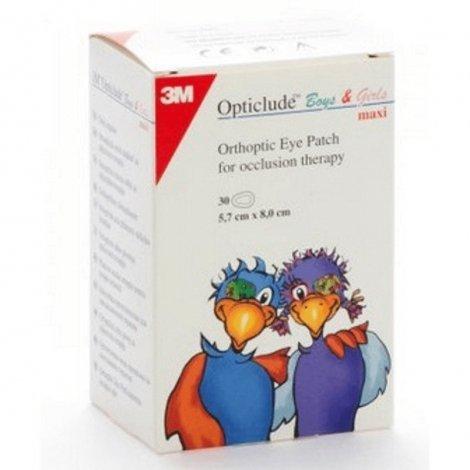3m Opticlude boys & girls maxi pansement oculaire 30 pièces  pas cher, discount