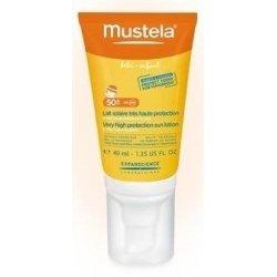 Mustela Lait Solaire Très Haute Protection spécial Visage SPF50+ 40ml
