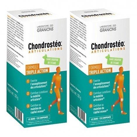 Chondrostéo Articulation Triple Action Lot de 2 Boîtes de 120 comprimés (2ème à 50%) pas cher, discount