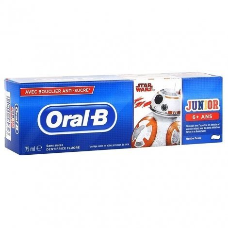 Oral B Junior Dentifrice Star Wars 6+ ANS 75ml pas cher, discount