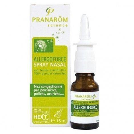 Pranarom Allergoforce Spray Nasal Huiles Essentielles Nez Congestionné 15ml pas cher, discount
