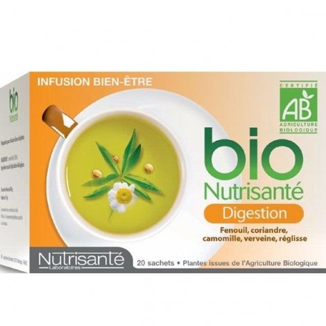 Nutrisante Infusion bio : Digestion x20 sachets pas cher, discount