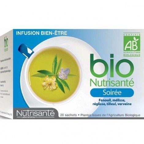 Nutrisanté Infusions Bio Soirée 20 sachets pas cher, discount