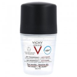 Vichy Homme Déo Anti-Transpirant Anti-Trace Prot. 48h bille 50ml