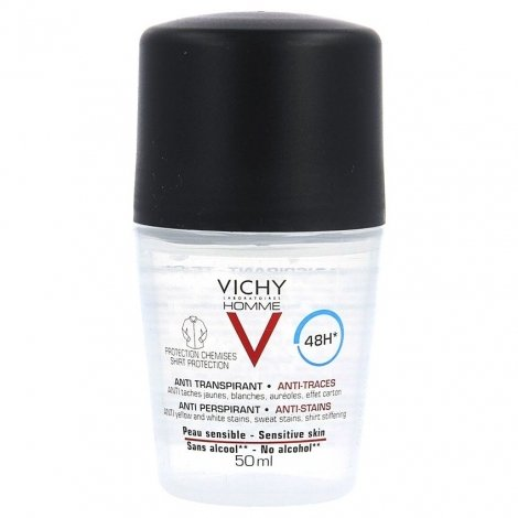 Vichy Homme Déo Anti-Transpirant Anti-Trace Prot. 48h bille 50ml pas cher, discount