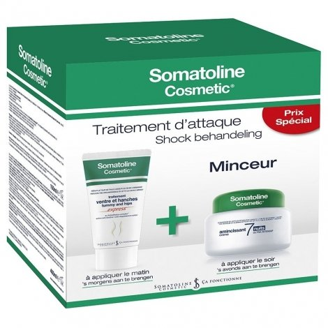 Somatoline Cosm. Duo 7 Nights 400ml + Ventre & Hanches 150ml pas cher, discount
