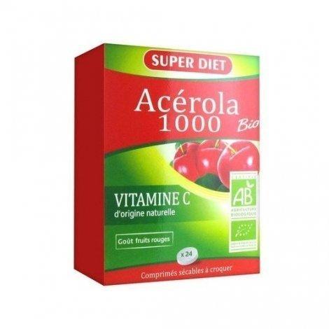 Superdiet Acérola 1000 Bio x24 Comprimés pas cher, discount