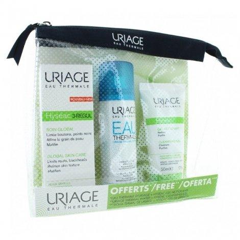 Uriage Hyséac 3 Regul 40ml + Eau Thermale 50ml + Gel Nettoyant 50ml pas cher, discount