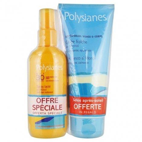 Polysianes Spray Lacté SPF 30 125 ml + Gelée Fraîche Après Soleil OFFERTE 200ml pas cher, discount