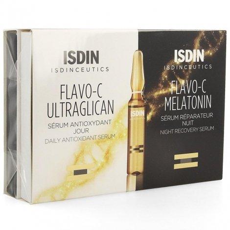 Isdinceutics Flavo-C Melat. + Ultraglican 10+10 ampoules pas cher, discount