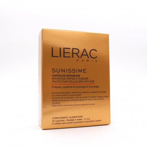 Lierac Sunissime  Bronzage Anti Age 30 capsules pas cher, discount