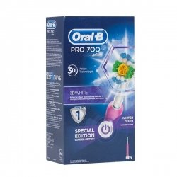 Oral-B Pro 700 3D White Brosse à Dents Electrique (Couleurs Aléatoires) pas cher, discount