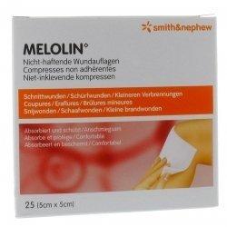 Melolin Compresses non adhérentes 25 (5cm x 5cm) pas cher, discount
